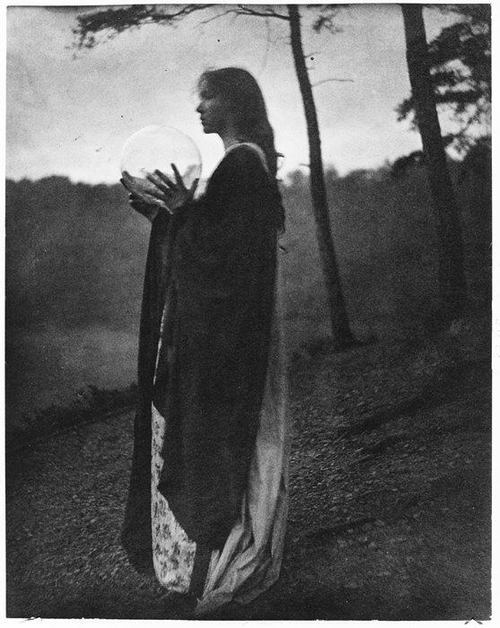 This photograph is The Bubble, by Clarence H White in 1898. Visit Different Drum blog to read more about past and present photographers of women in nature.