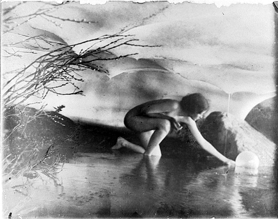 The Bubble by Anne Brigman, 1907.