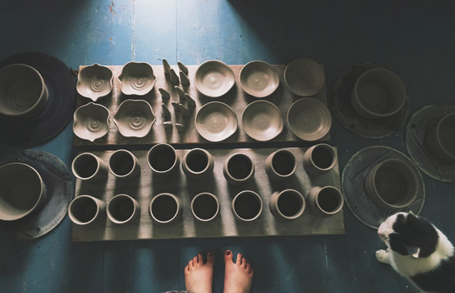 Read the interview with potter Tara-Sinead of Pitch Pine Pottery at Different Drum! www.differentdrumblog.com