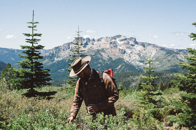 The guys at Juniper Ridge comb the Sierra Nevada Mountain Range of California for materials to incorporate into their wildcrafted products.