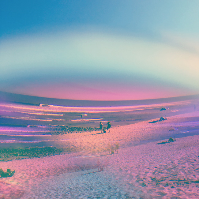 Psychedelic Artist Olivia D'Orazi captures a vision of a Malibu, CA beach through an otherworldly lens. Read the interview with Olivia at Different Drum. differentdrumblog.com