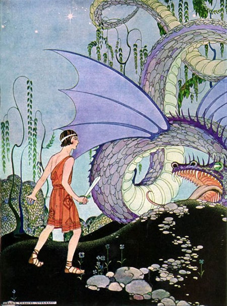 An illustration by Virginia Frances Sterrett From Tanglewood Tales by Nathaniel Hawthorne.