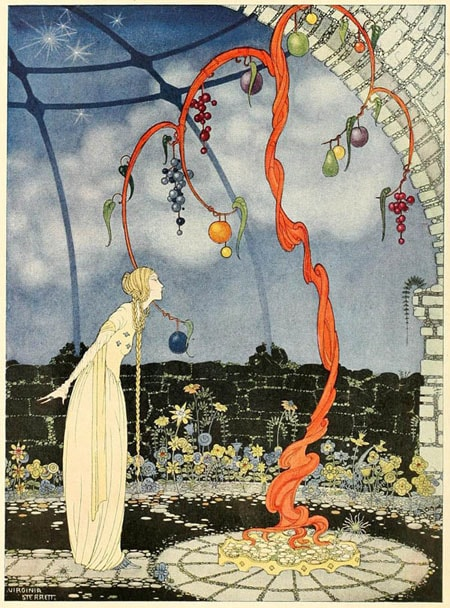 An illustration by Virginia Frances Sterrett From Old French Fairytales by Comtesse de Segur.
