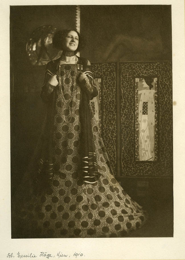 Emilie Flöge in one of her gowns