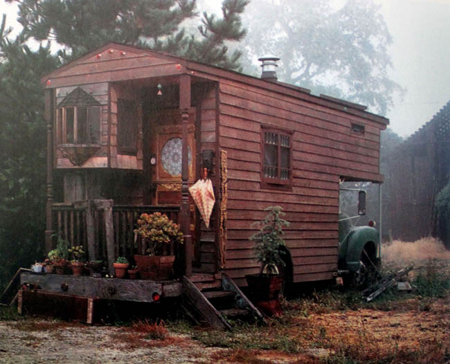 Housetruck with a porch.
