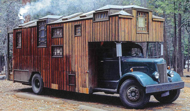Housetruck with Craftsman style windows.
