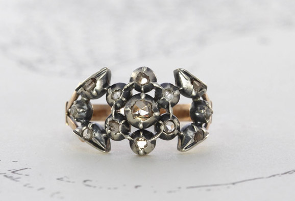 Georgian Rose Cut Diamond Ring offered by TheEdenCollective on Etsy