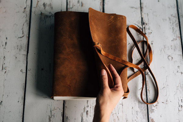 Leather Journal by ForestNine on Etsy.