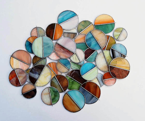 Stained Glass Circles by Stacie of Forest City Stained Glass.
