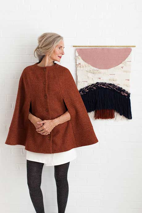 The Camden Cape. PDF pattern offered by Seamwork.