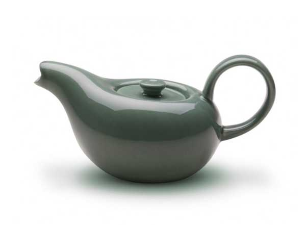Russel Wright Mid-century Style Teapot in Seafoam.