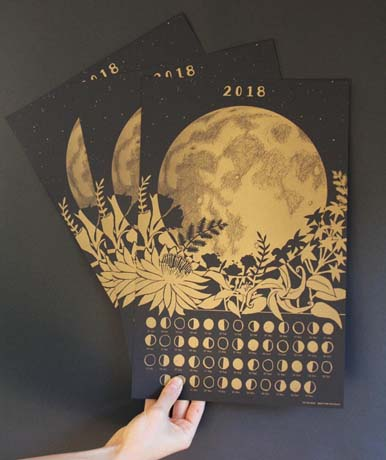 Lunar Calendar offered by TheFarWoods on Etsy.