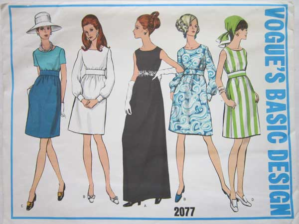 Vogue's Basic Design 2077 dress pattern offered by RainbowConnection15 on Etsy.