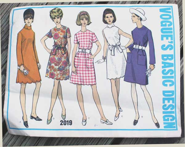 Vogue's Basic Design 2019 dress pattern offered by EleanorMeriwether on Etsy.