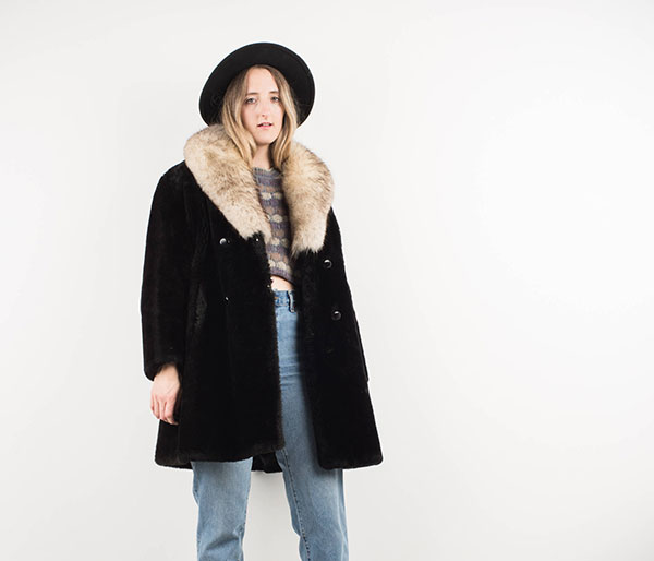 Vintage black fur coat offered by ErikaAstrid