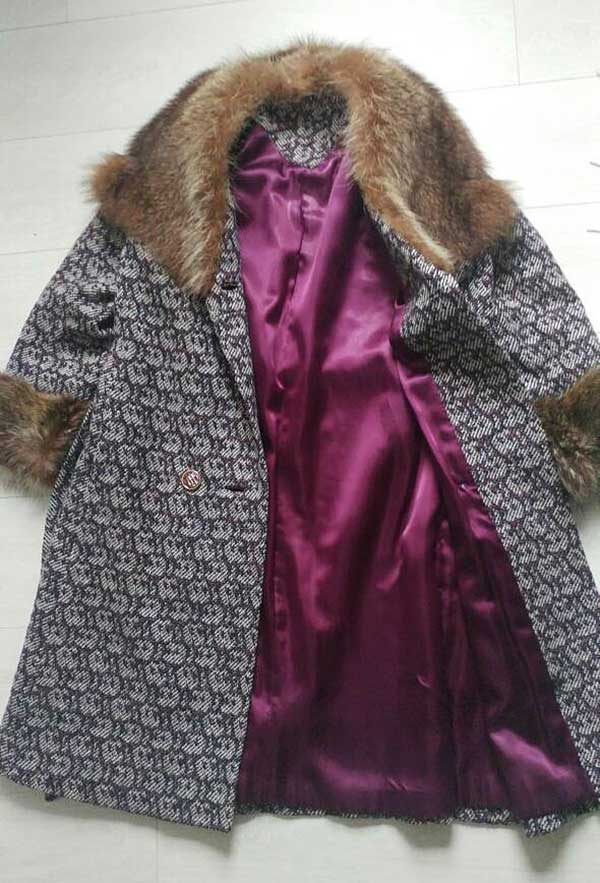Vintage purple fur coat offered by WinstonVintage