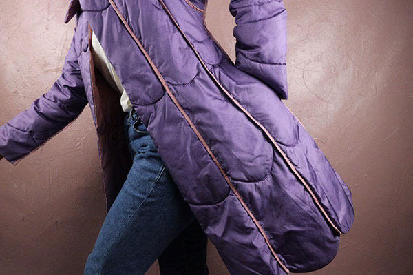 Vintage purple puffer offered by AtributeVintageStore
