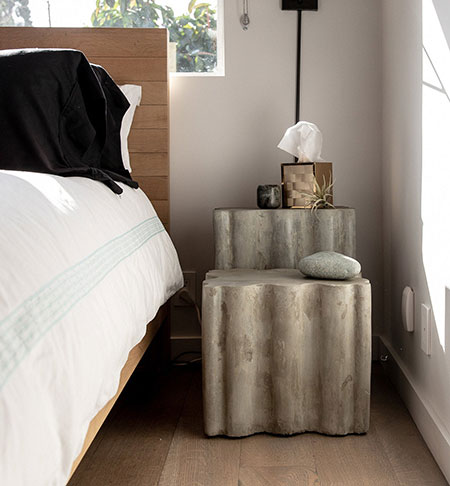Concrete Side Table offered by CraftsManhattan on Etsy