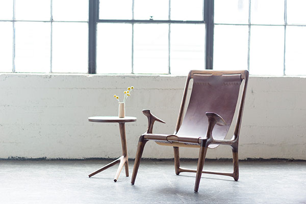 The Sling Chair offered by FernwehWoodworking on Etsy