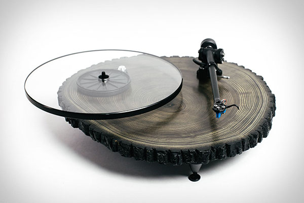 Black Barky Turntable offered by Audiowood on Etsy