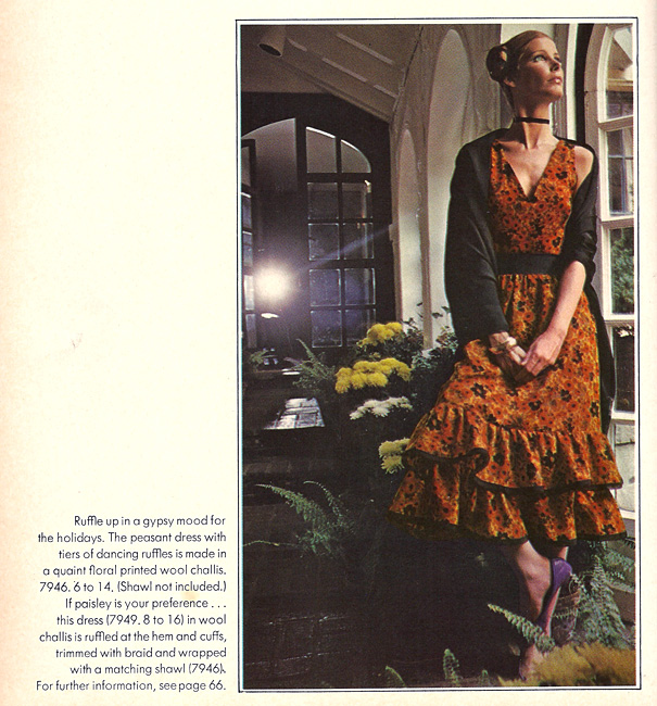 Vintage Vogue 7946 from the International Vogue Pattern Book December 1970 & January 1971