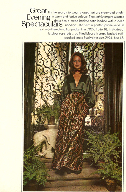 Vogue 7927 from the International Vogue Pattern Book December 1970 & January 1971