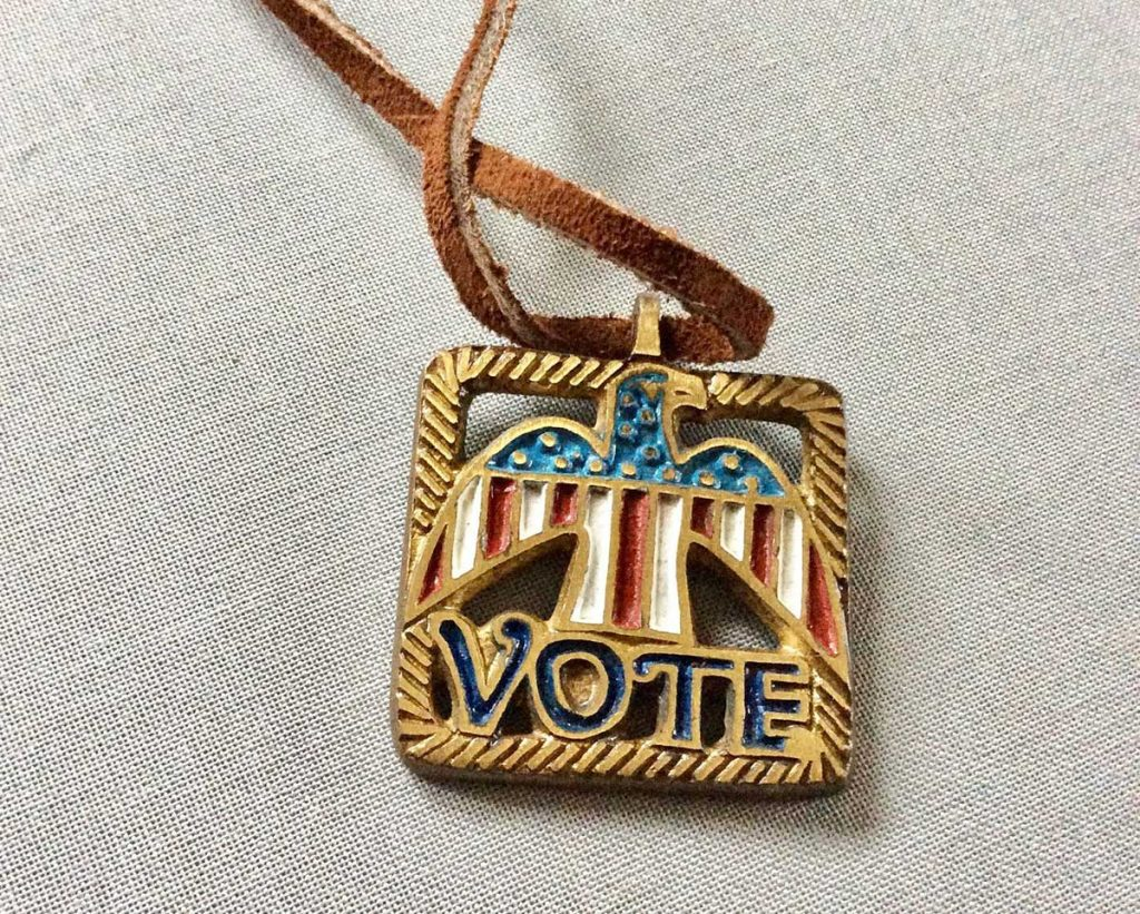 Vote Necklace offered by Yesterdis on Etsy