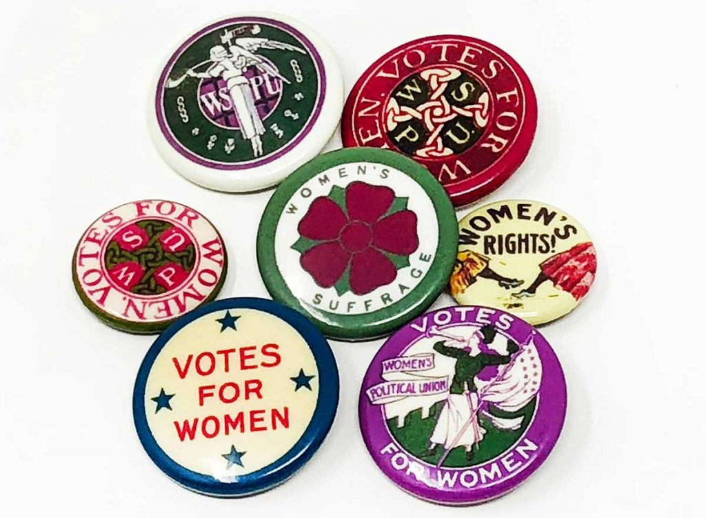 Votes for Women Vintage Buttons offered by ellepresidente on Etsy